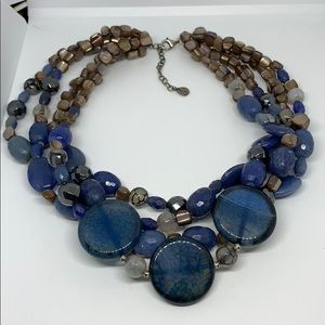 Barse 925 heavy glass necklace